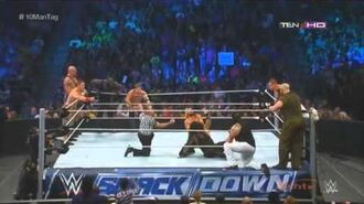 10-Man Tag Team Match SmackDown 5 September 2014 (Full Match)