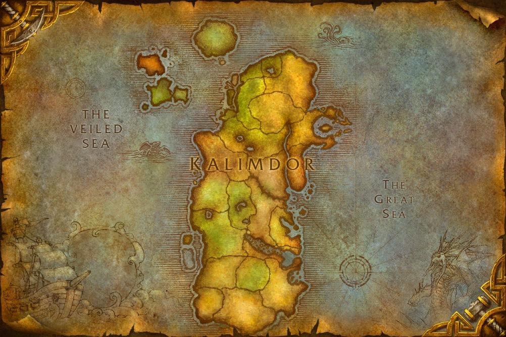 Картинки по запросу world of warcraft map kalimdor