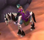 Blue Skeletal Horse