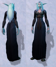 Simple Black Dress, Snow Background, NE Female