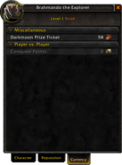 Character window-Currency tab