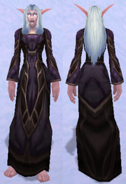 Arcane Flame Altar-Garb, Snow Background, NE Female