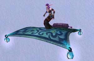 Frosty Flying Carpet, Snow Background, NE Female
