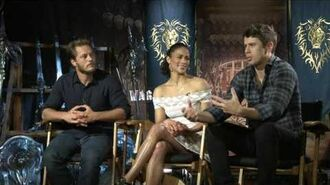 Warcraft Travis Fimmel, Paula Patton, & Toby Kebbell Official Movie Interview