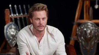 "Warcraft Travis Fimmel ""Anduin Lothar"" Behind the Scenes Movie Interview"