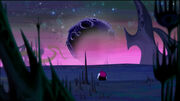 Lord Hater sitting on a planet
