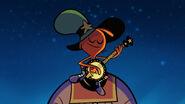 S1e12b Wander strumming the banjo