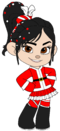 Vanellope as Mrs Claus