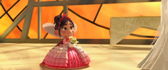 File:Vanellope at the Wedding.png