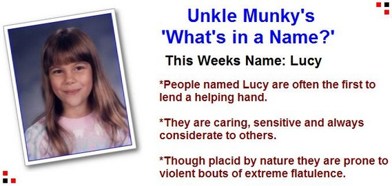 Whats in a name lucy