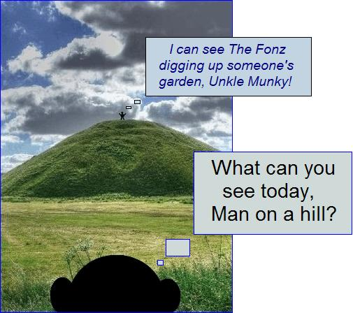 Man on a hill dig