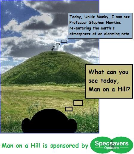 Man on a hill hawkins