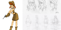 Cowgirl character design