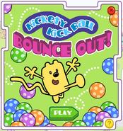 Kickety Kick Ball Bounce Out! Title Screen