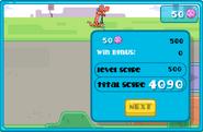 Wubbzy's Silly Speeder Losing Level Screen