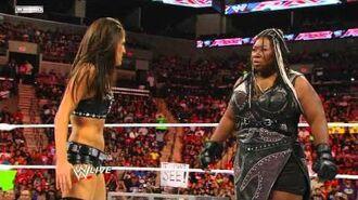 Raw- Kelly Kelly vs. Brie Bella