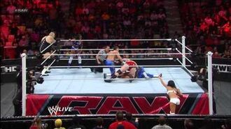 Brodus Clay, Tensai & Naomi vs. Primo, Epico & Rosa- Raw, Feb