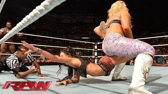 The Great Khali & Natalya vs. Big E Langston & AJ Lee- Raw, August 12, 2013