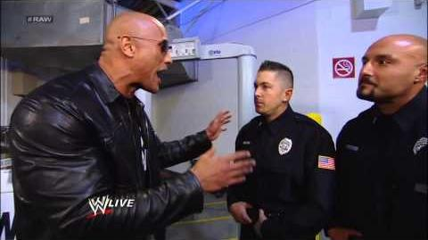 Vickie Guerrero bans The Rock from entering the HP Pavilion Raw, Jan 21, 2013