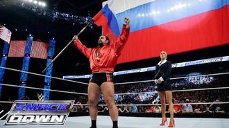 "Lana apologies as Rusev spreads ""I quit"" propaganda- SmackDown, May 14, 2015"