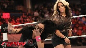Raw - AJ and Kaitlyn brawl before WWE Payback- Raw, June 10, 2013