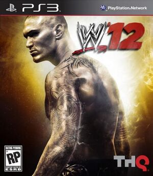 Wwe 12 ps3 box art