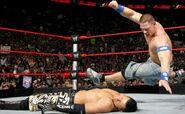 Cena knuckle shuffle on the Miz