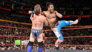 Xavier Woods attacking Jericho