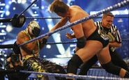 JBL fighting Rey Mysterio at Wrestlemania 25