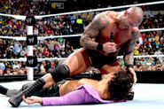 Orton beating the crap of Maddox