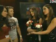 Bella Twins, Gail Kim and Daniel Bryan