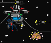 Banshee Gundam vs. Extra Zeong