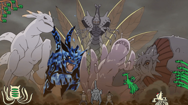 Hosts of the Eight Paths vs Akatsuki