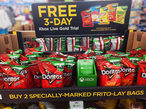 File:Xbox Live Gold Free Trial with Doritos Purchase Floor Display.jpg