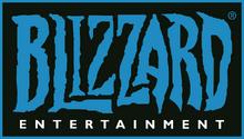 Blizzard Entertainment logo blue outline on black