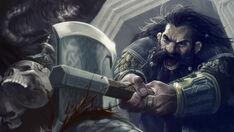 R169 457x257 15005 Heavy Stroke 2d fantasy troll dwarf fight battle lotr lord of the ring picture image digital art