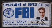 Fox Mulder's FBI badge