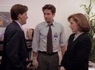 Tom Colton with Fox Mulder and Dana Scully