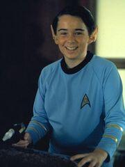 Fox Mulder dressed as Spock