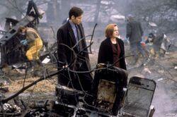 Tempus Fugit Crash Site Mulder Scully