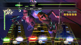 Rock band 2 screen