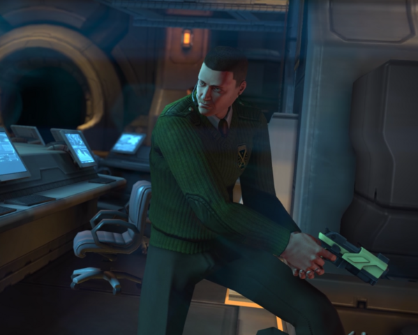 File:XComEW Central Officer Bradford with Gun.png