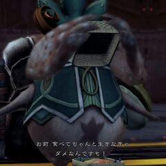 Tatsu giving a bento to <a href=