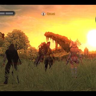 Bionis' Leg Sunset