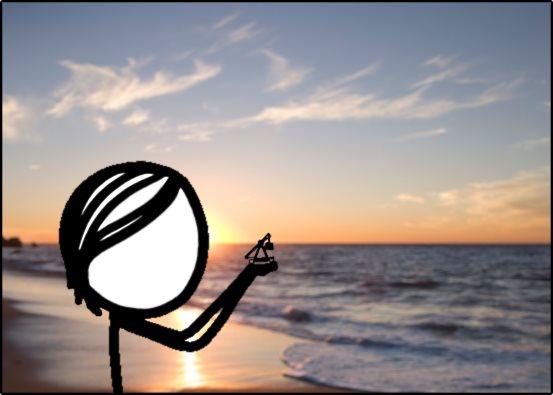 Trebuchet zoom sunset
