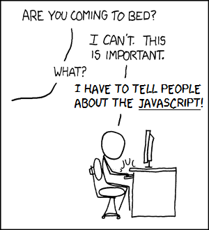 Anyone notice the javascript
