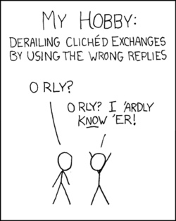 Cliched exchanges