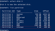 1-Initial Diskpart Output