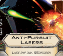 Anti-Pursuit Lasers