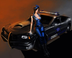 1006x812 12494 Cop Officer complet 2d illustration anime girl cops picture image digital art